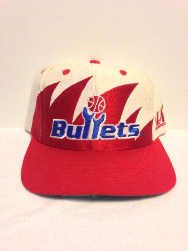 promo code ddbee fbf0b Washington Bullets Logo Athletic Sharktooth Vintage Snapback Hat Starter Nba   LogoAthletic  WashingtonBullets