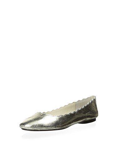 Matisse Women's Kindle Scalloped Edge Ballerina Flat (Silver)