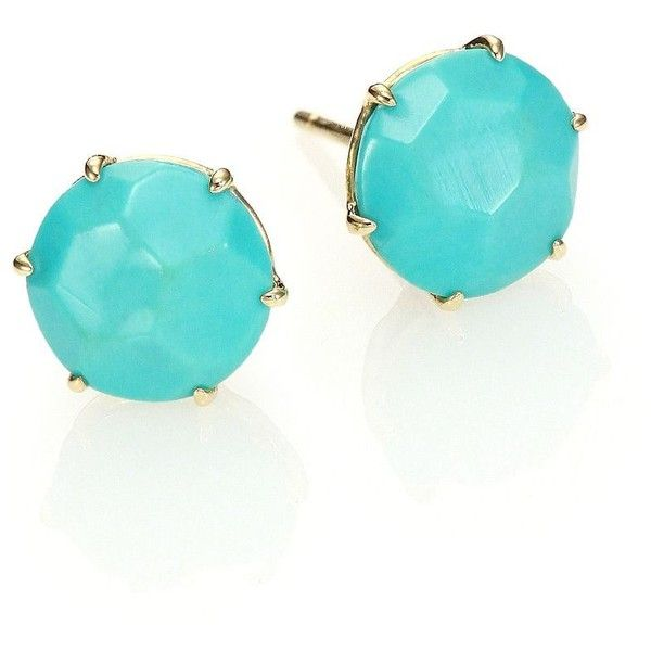 Ippolita Rock Candy Turquoise 18k Yellow Gold Stud Earrings 830 Liked On