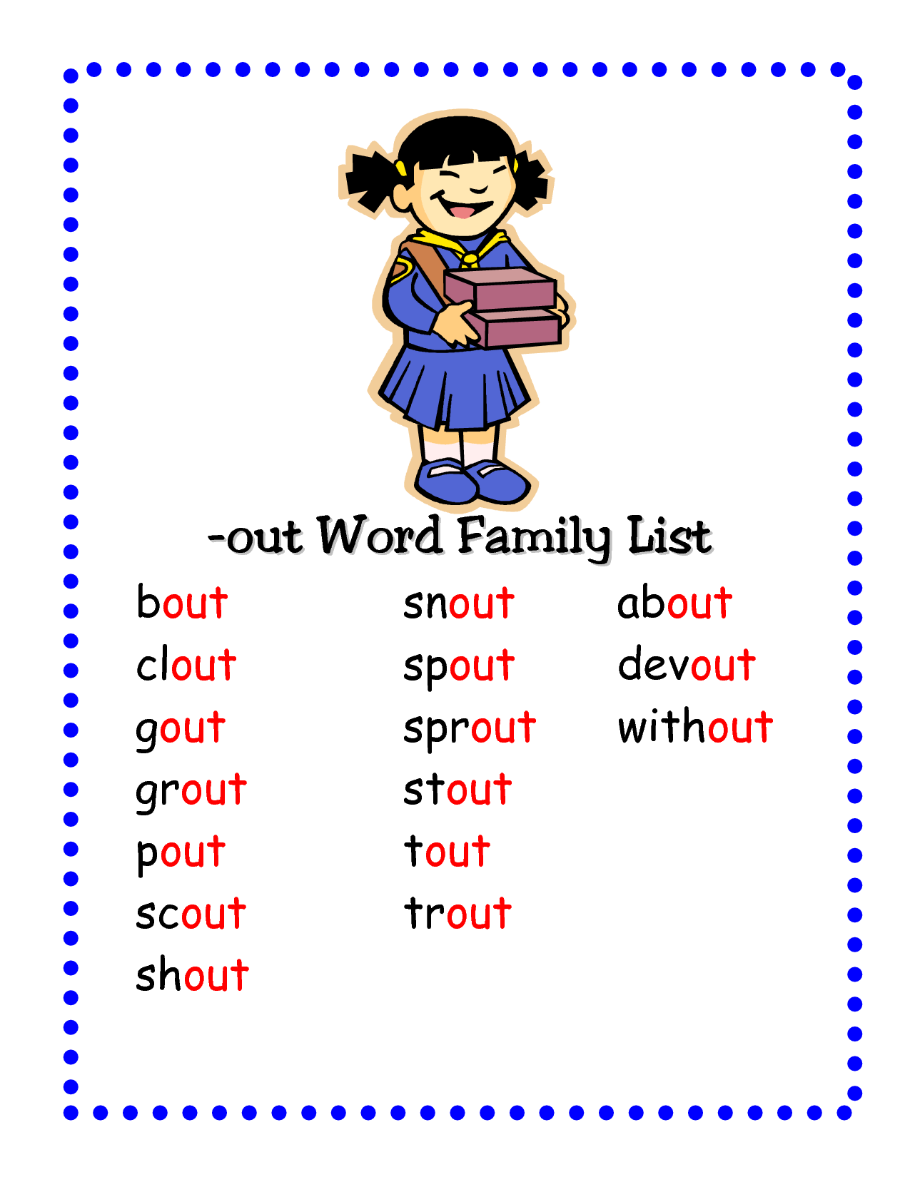 404 Not Found Word Families Word Family List English Phonics