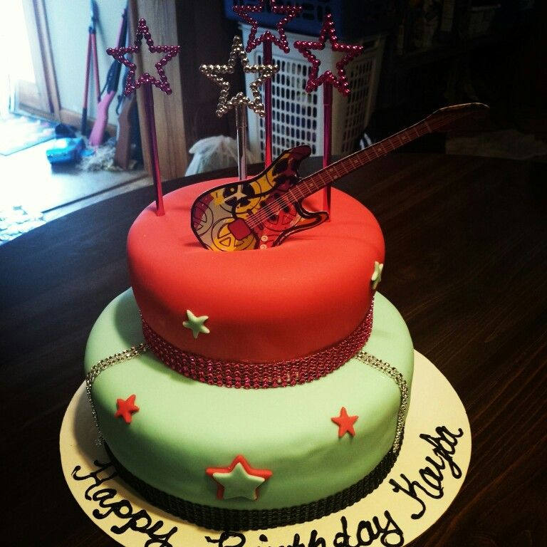 Rockstar Birthday Cake My Cakes And Treats Ive Made Pinterest
