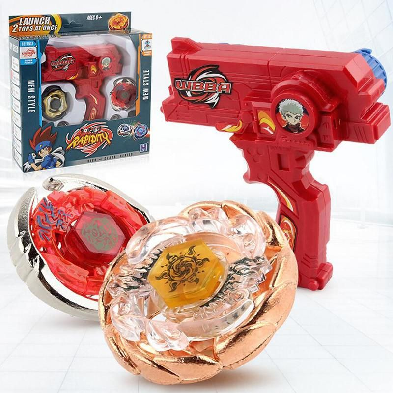 Burst Beyblade Toy Play Set Game Rapidity Booster  Fight W// Grip Launcher