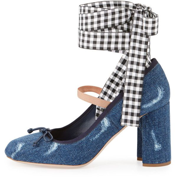 Miu Miu Denim Ankle-Strap Pumps discount pay with paypal cheap eastbay outlet discount authentic QK8z8