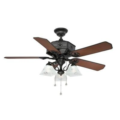 Natural Iron Ceiling Fan AL875 BK At The Home Depot