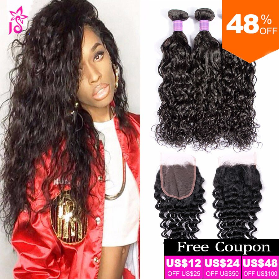 Peruvian Water Wave With Closure Cheap Wet And Wavy a Unprocessed