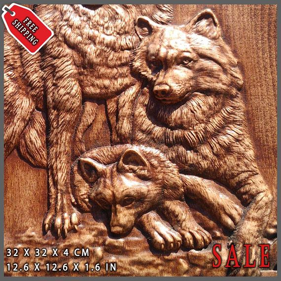 Wolf Odin Viking Valhalla Home Decor Norse Thor Wood Picture Pagan S Carving Heathen Asatru Celtic Rune Wall Hanging Animal