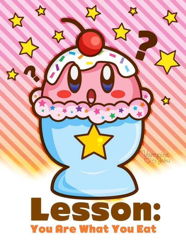 U are what u eat Kirby, Kirby character, Anime artwork