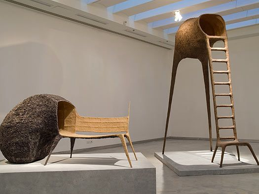 Li Edelkoort curates Future Fossils in the Holon Museum by Ron Arad...here the Nacho Carbonell installation