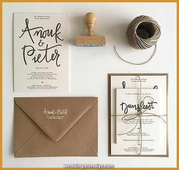 Spectacular marriage ceremony invitation kraft typography stamp seal manuscript gentleman marriage ceremony  Informations About huwelijksuitnodigin