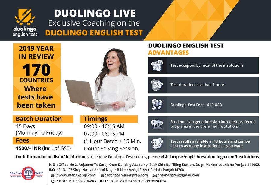Duolingo Live Exclusive Coaching on the Duolingo English