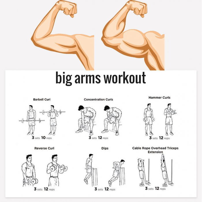 Très Want Bigger Arms? Try These Exercises ???????? Tag Your Gym Buddy  VU67