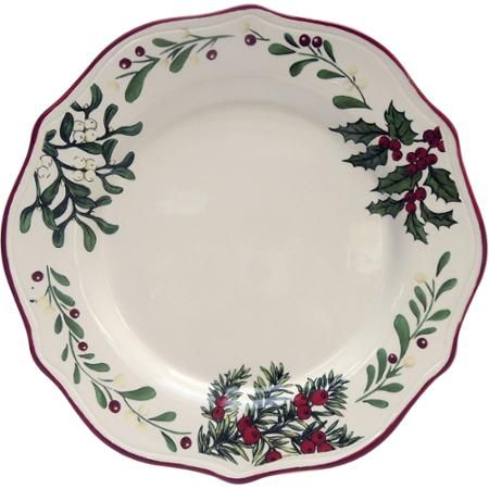 Better Homes And Gardens Heritage Dinner Plate Set Of 6 Christmas Time