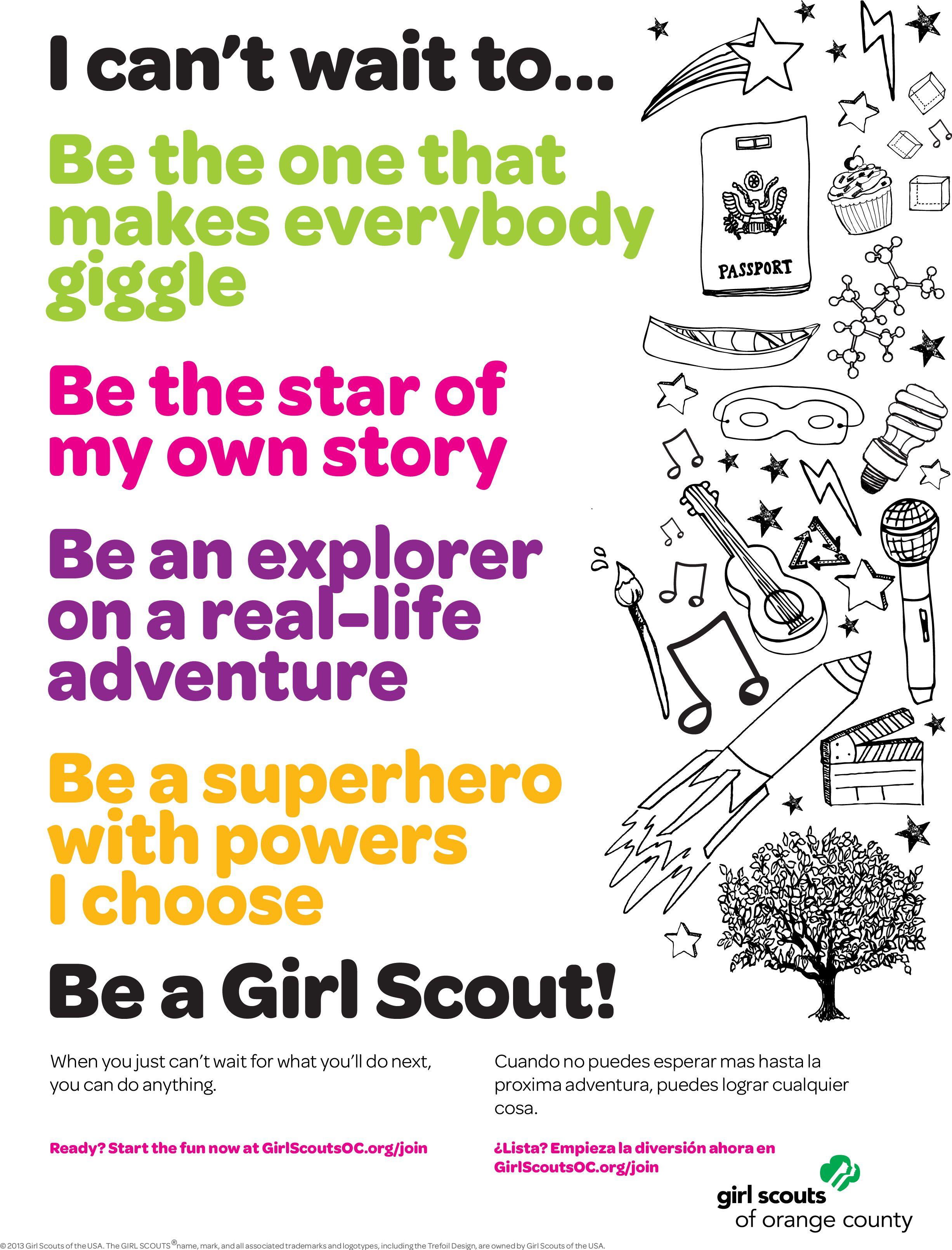 CantWait #GSWeek Recruitment Flyer 8.5x11 | Girl Scouting | Pinterest