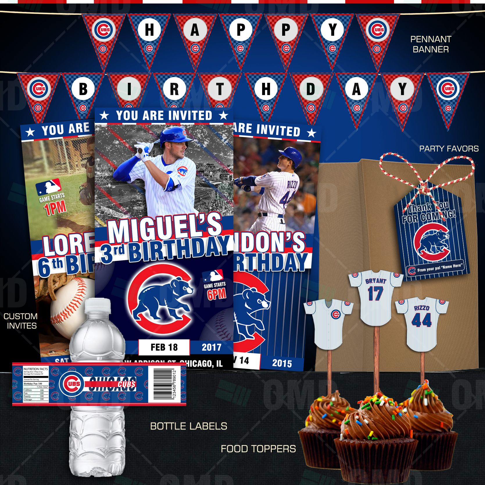 Chicago Cubs Baseball Ultimate Party Package With Images