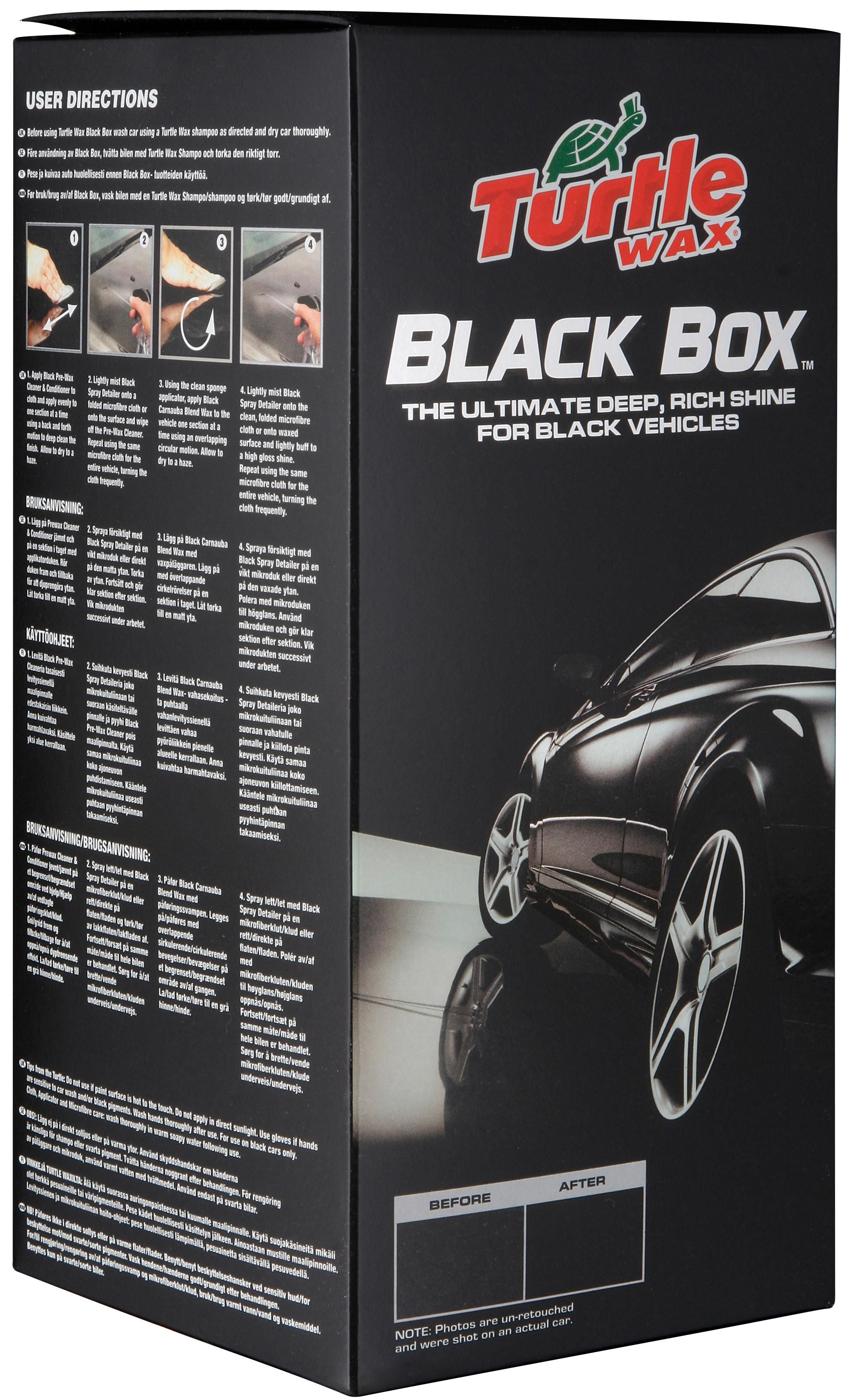halfords turtle wax black box detailing kit