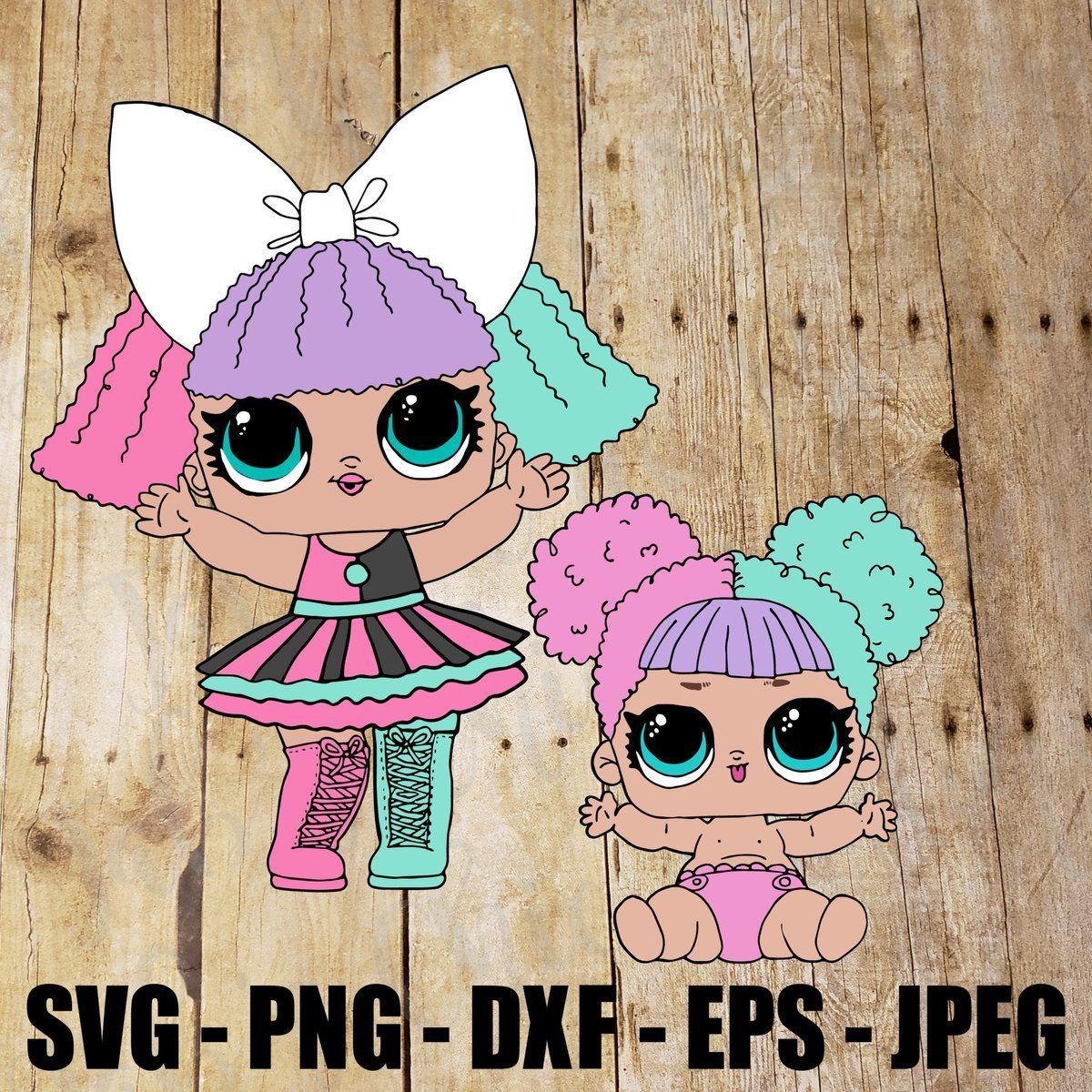 Baby Pranksta & Pranksta LOL LIL Surprise Doll SVG, JPEG