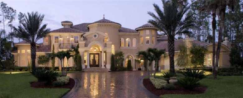 Contemporary mediterranean luxury home florida style 7 900 for Mediterranean style mansion