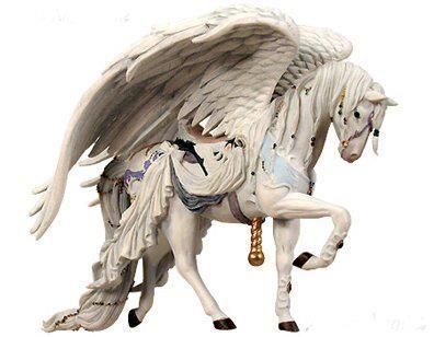 Nene Thomas Couture Carousel Horse Angel White  http://nenethomas.com/