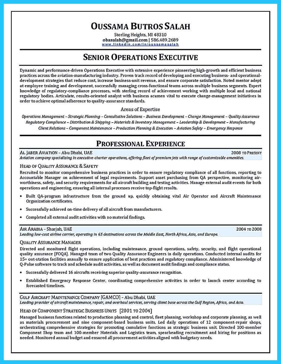 Aircraft Mechanic Resume Examples When You Want To Seek A Job In Aircraft  Industry You Need