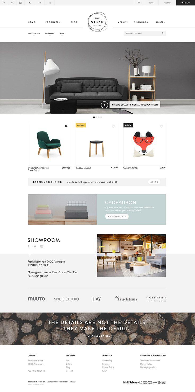 Web design voor The Shop Online, Lifestyle & interior webshop - Web ...