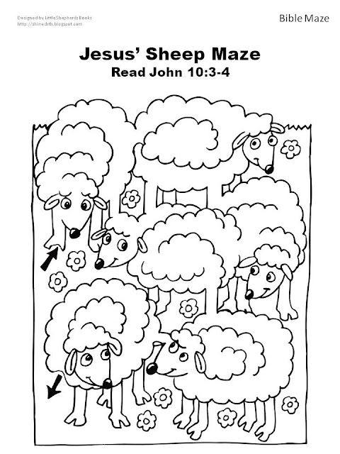 Bijbel schapen doolhof bij het verhaal van de goede herder