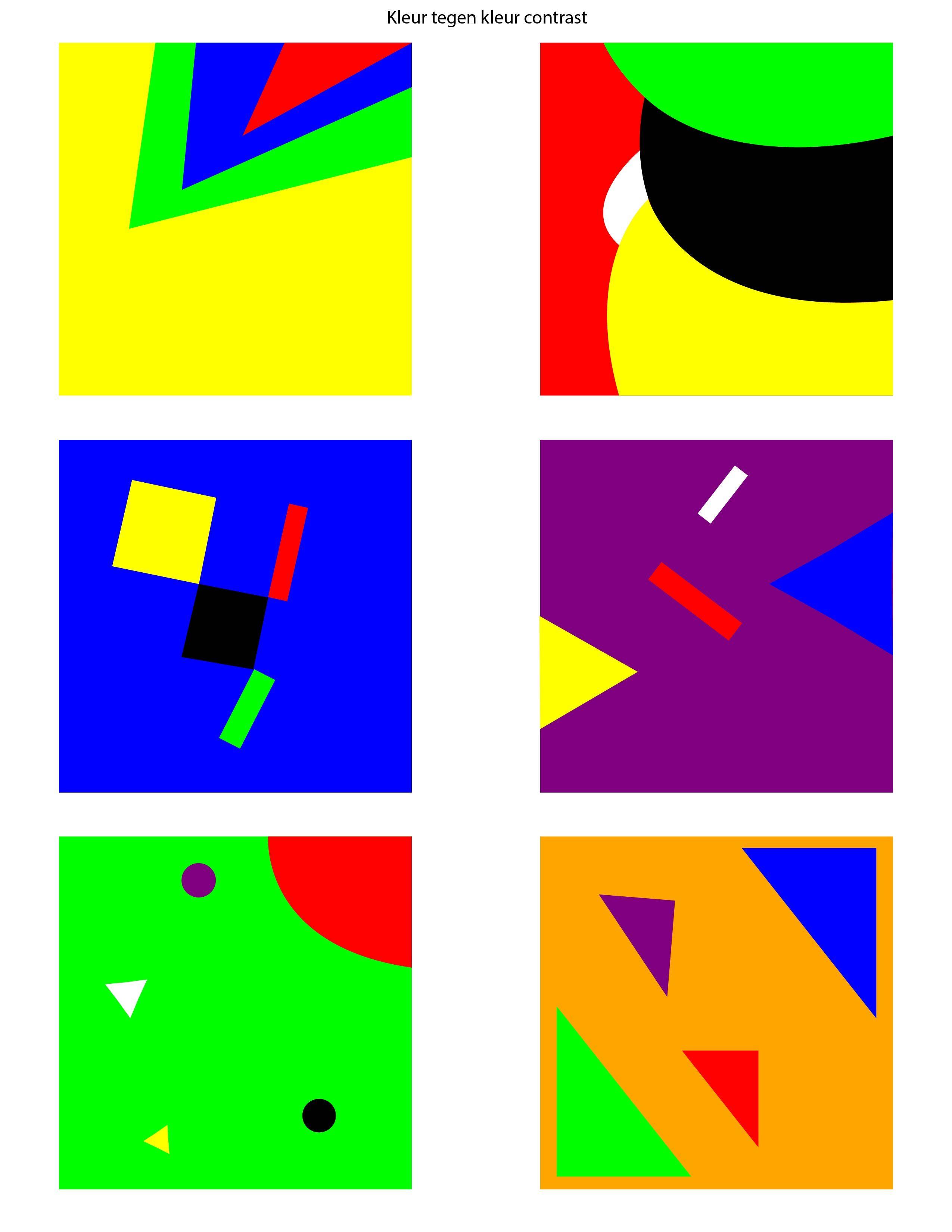 Kleur tegen kleur contrast