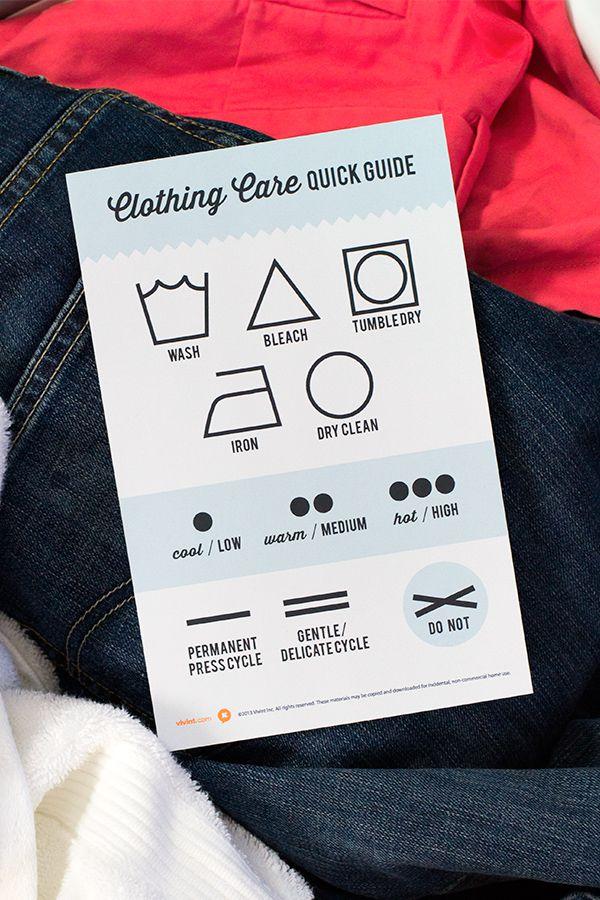 Printable Clothing Care Symbol Chart Sarah Hearts Clothing