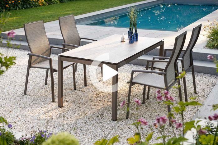 Chaise De Jardin Stern Kari Aluminium Textile Aluminium Taupe En 2020 Mobilier Jardin Meuble Jardin Mobilier De Salon