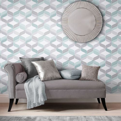 Graham & Brown Retro Wallpaper Aqua wallpaper, Retro