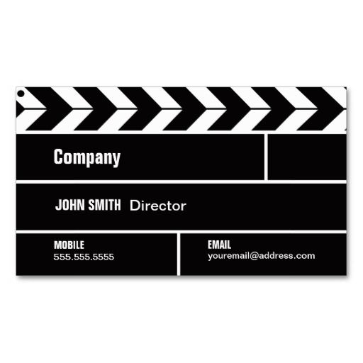 Director clapperboard film movie business card business cards professionally printed for all of your networking needs colourmoves