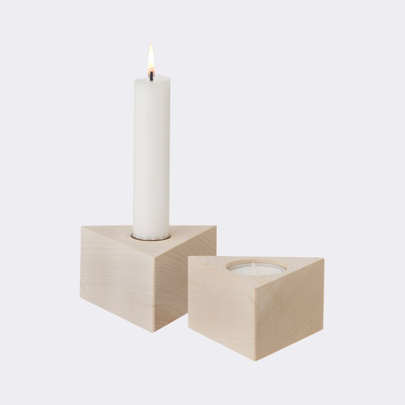 ferm LIVING maple reversible candleholder