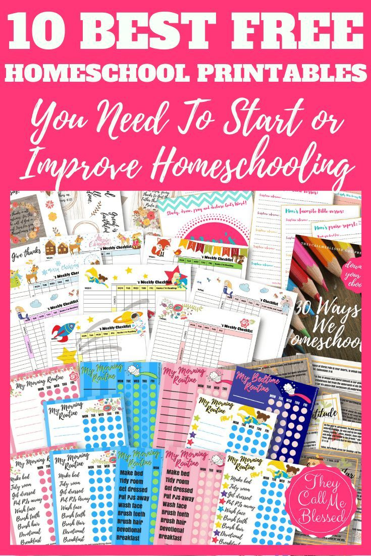 10 Best FREE Homeschool Printables You Need To Start