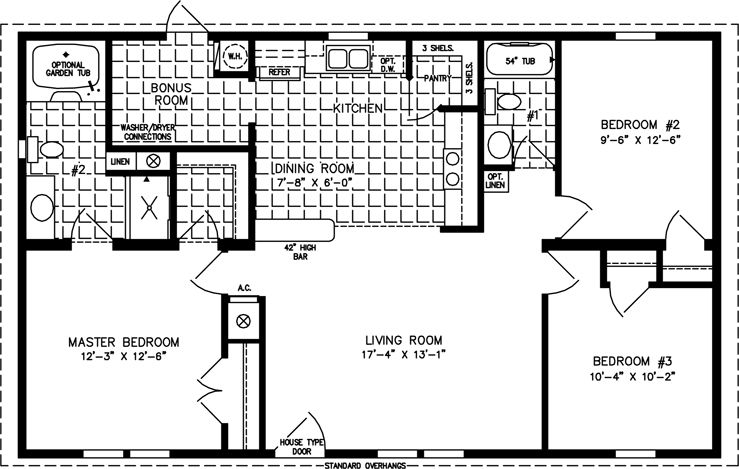 Floor Plans For Sq Ft Cabin The Imperial IMPB - 1000 sq ft house plans