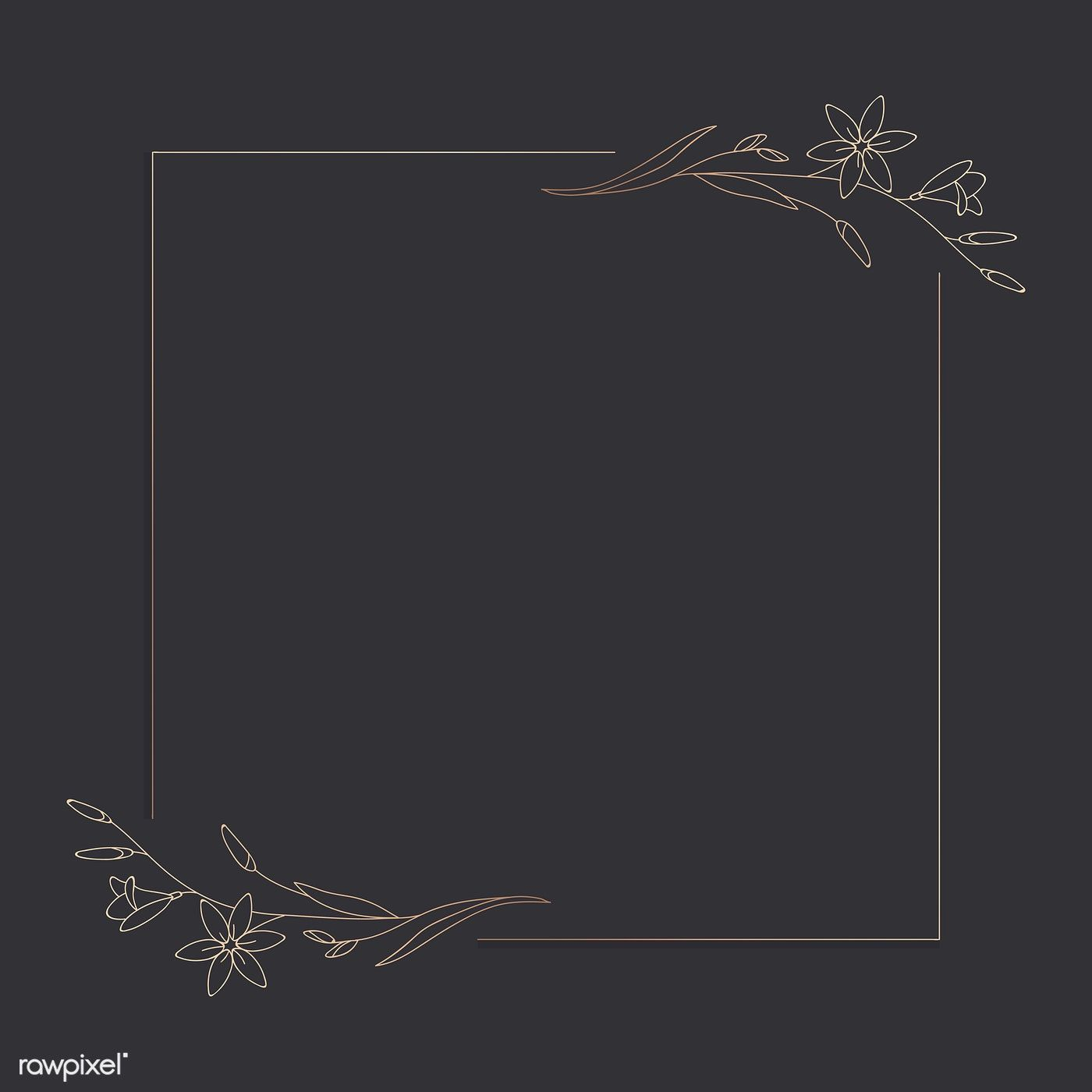 Download Premium Vector Of Hand Drawn Flower Frame Background