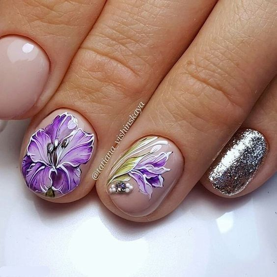 Flower Nail Art - Simple and Easy Tutorial To Do Yourself