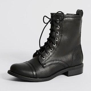 Tauren Lace-Up Ankle Boots - Black