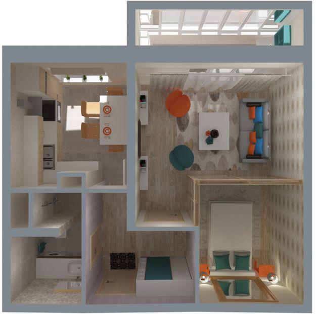 7b3589de8fde4 Разбираемся, как лучше организовать небольшое пространство типовой однокомнатной  квартиры, и находим беспроигрышные варианты планировок для холостяка, ...