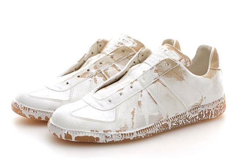 0ed13e8ff7d Maison Martin Margiela white painted sneakers | White | Margiela ...
