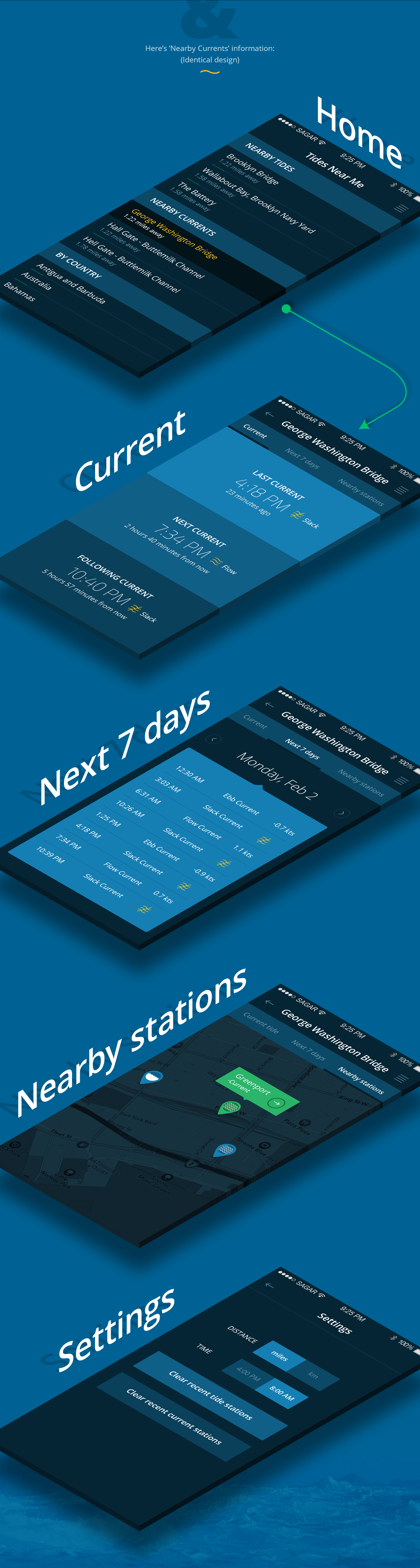 Tides Near Me iOS & Android App on Behance Android
