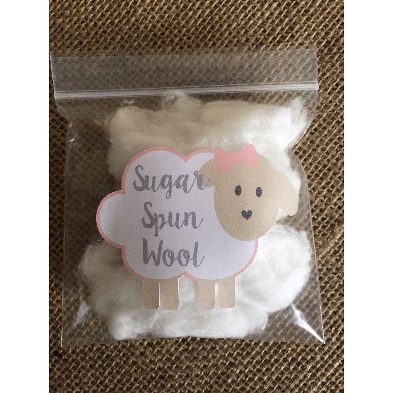 Sugar Spun Wool Lamb Stickers, Cotton Candy Favors, Little Lamb Baby Shower,  Sheep Baby Shower, Sheep Baby Lamb Baby Lamb Baptism Lamb Decor