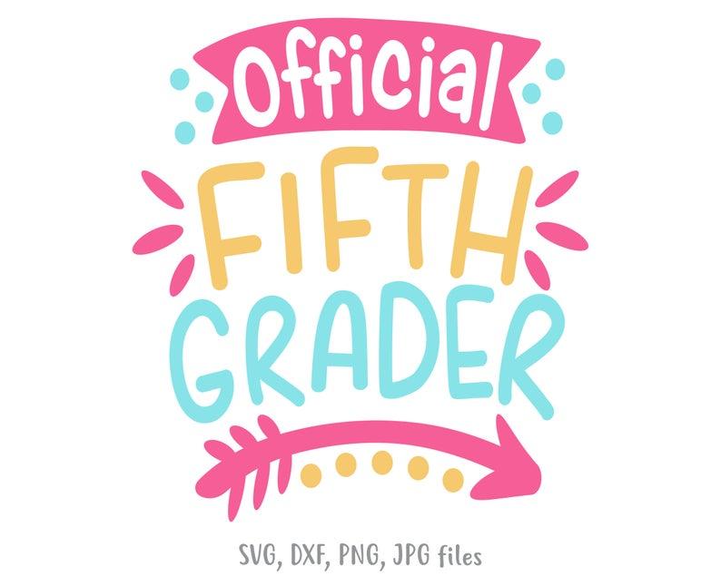 girl school shirt Fifth Grade SVG 1st day of school svg file Back to school 5th Grade svg school cut file Mermaid Svg school shirt