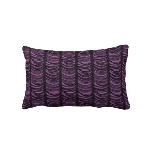 KRW Purple Faux Draped Look Gothic Decor Pillow