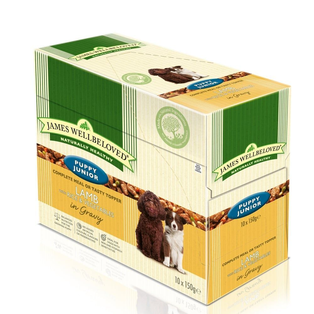 James Wellbeloved Puppy Junior Lamb Pouches 10 X 150g Dog Food