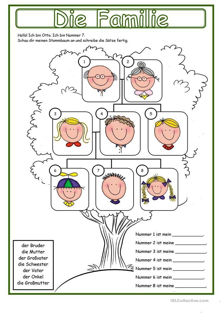Meine Familie _ Stammbaum | Pinterest | Worksheets