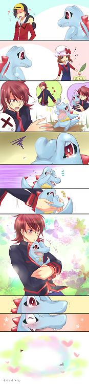 Oh, Totodile, how cute. ^_^aaahh totodile is my favorite pokemon of all time!!Dying of cuteness