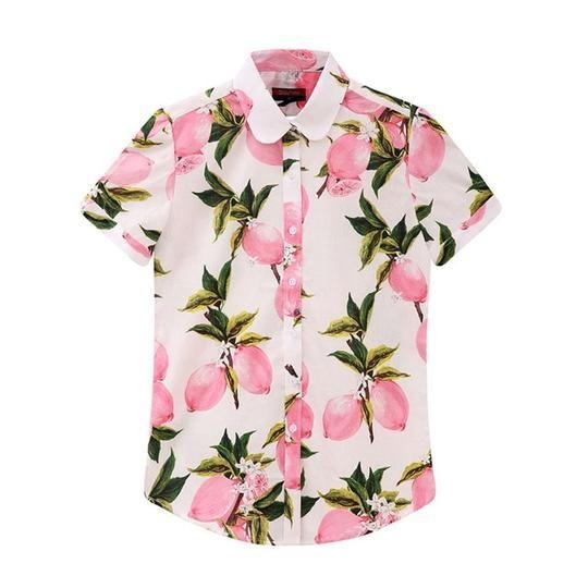 de10f6e1e3dfd9 Dioufond Plus Size Floral Women Blouse Summer Turn-Down Collar Short S –  eefury