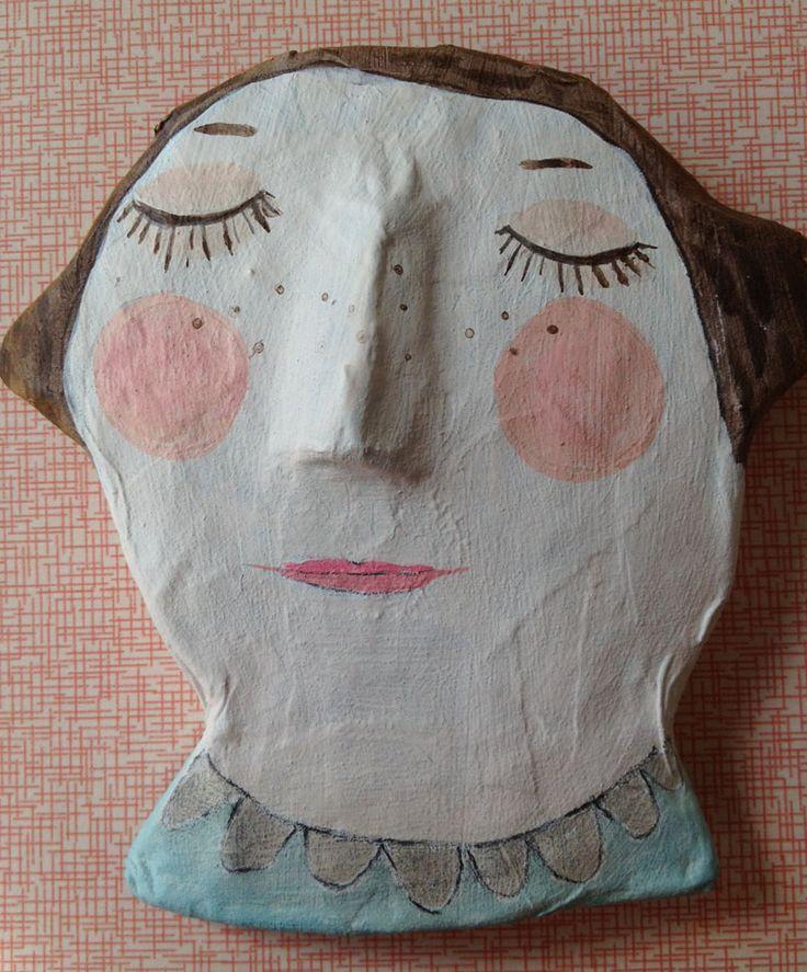 Papier mache self portrait sculpture 3d art for kids for Paper mache ideas for kids