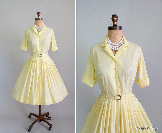 the classic early 1960s shirtwaist dress httpwwwetsy