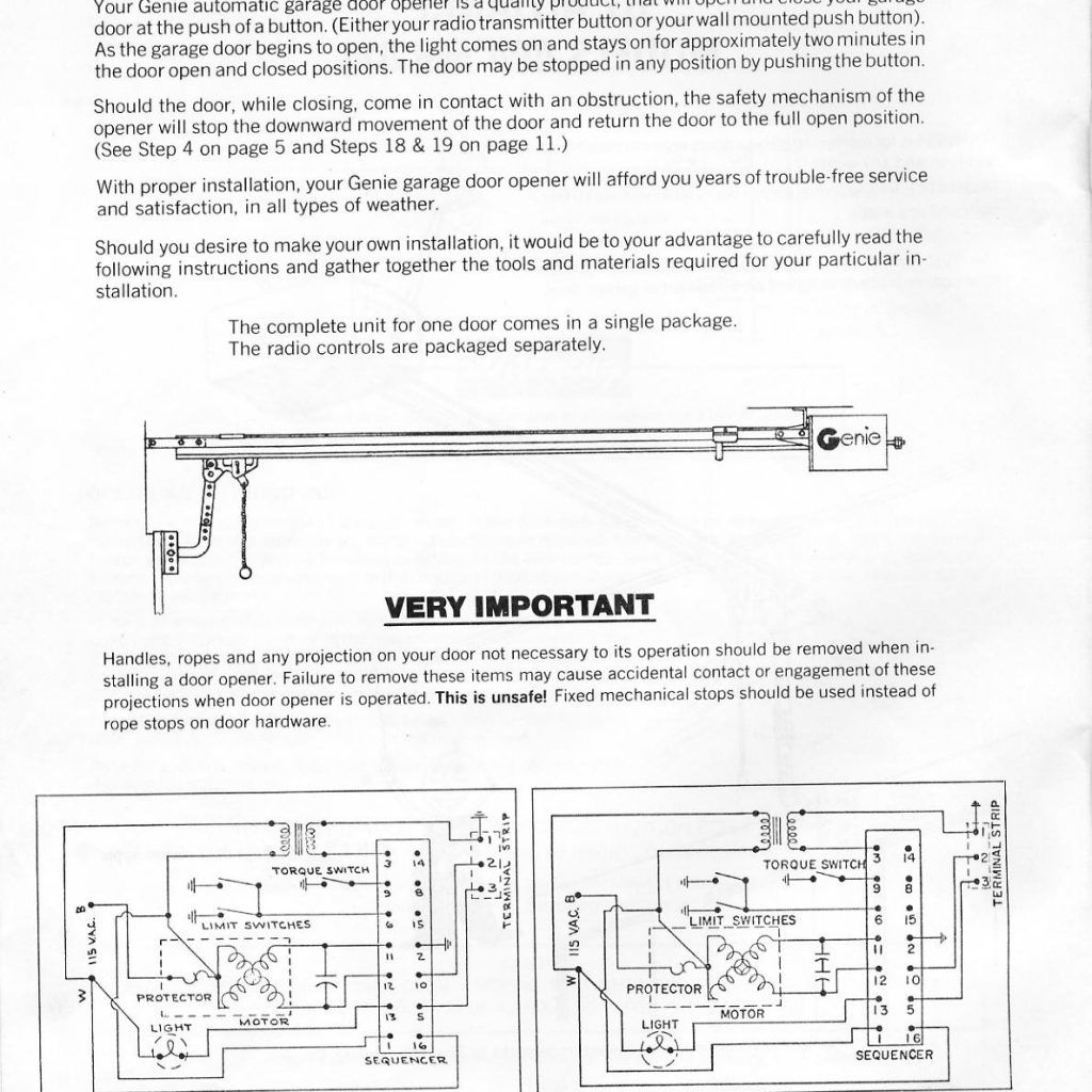 Wiring Diagram For Garage Door : Commercial garage door opener wiring diagram