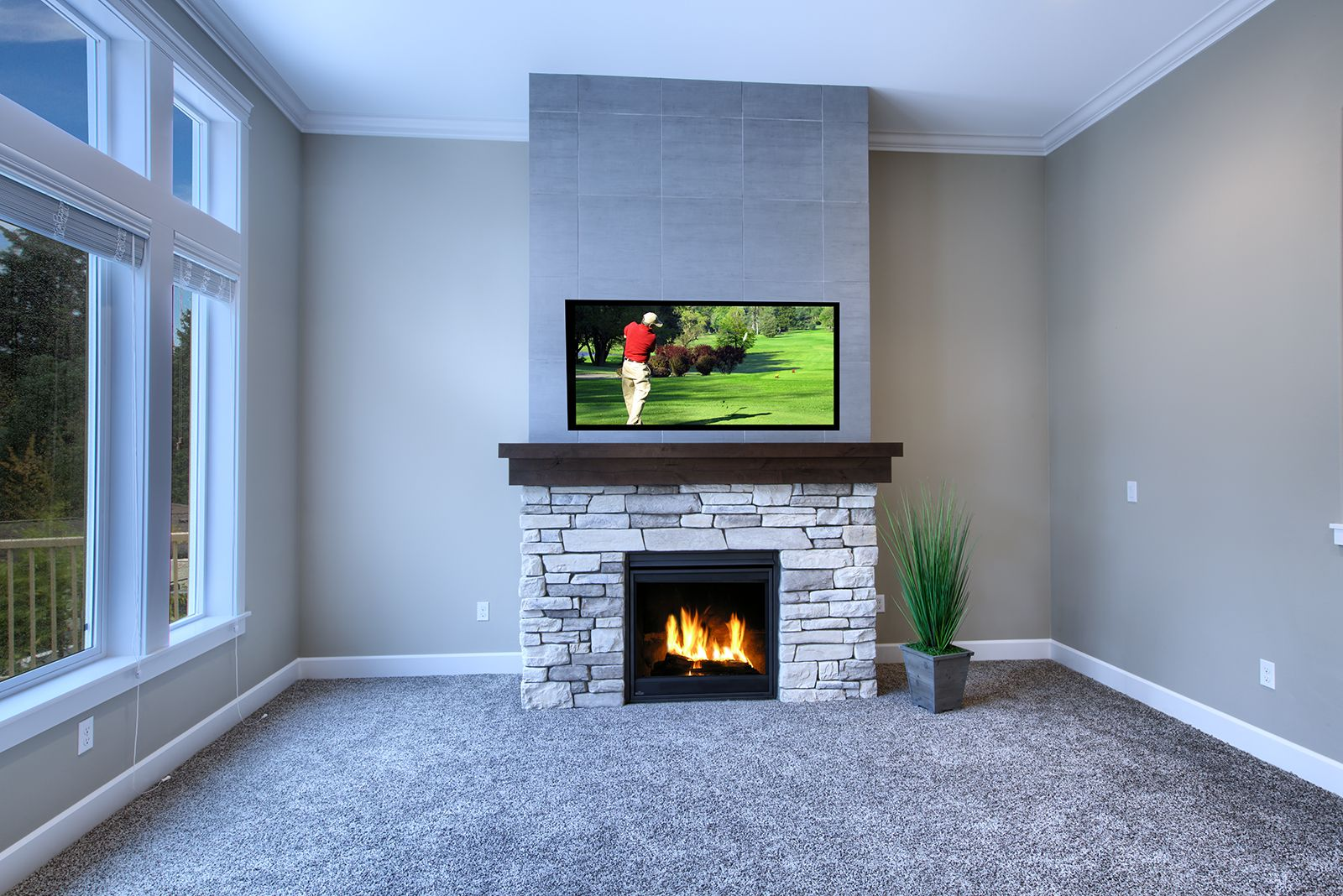 Classic. Clean. Simple. Fireplace. Enjoy a clean statement with ...